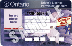 Cracker Jacks to Offer Province of Ontario Driver's Licences