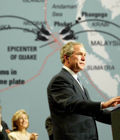 Bush Pledges to Bring Rogue Tsunami to Justice
